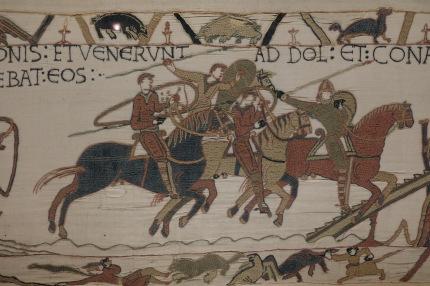 Extrait de la tapisserie de la reine Matilde à Bayeux
